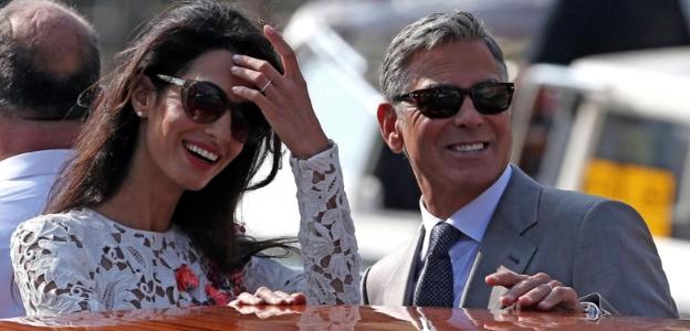Джордж и Амал по време на сватбата им във Венеция
