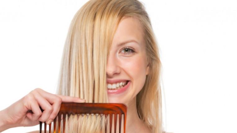 коса жена гребен