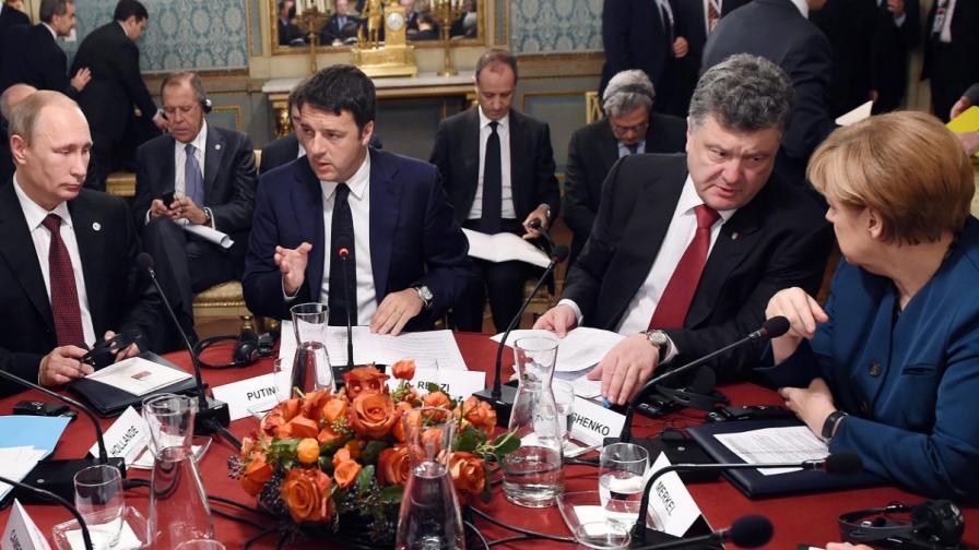 """Путин и Порошенко с """"положителна"""" среща в Милано"""