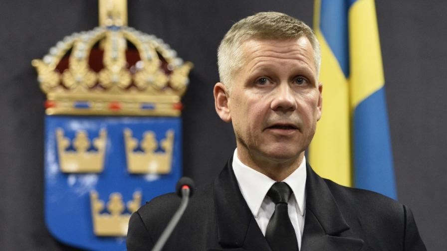 Главнокомандващият военноморските сили на Швеция Йонас Уилкстрьом