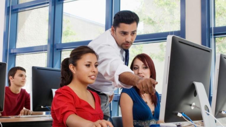 компютър ученик училище дете учител технологии