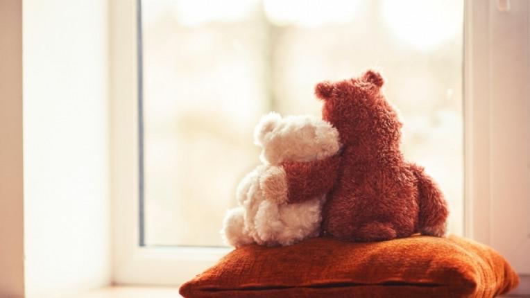 мече плюшено прегръдка обич