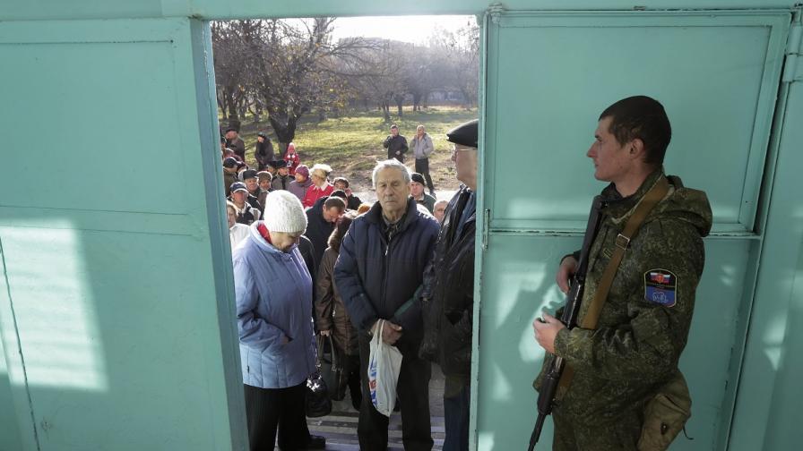 Започна изборният ден в сепаратистката Източна Украйна