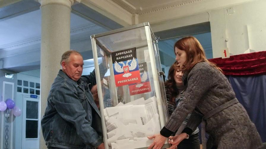 Лидерът на самообявилата се ДНР печели изборите