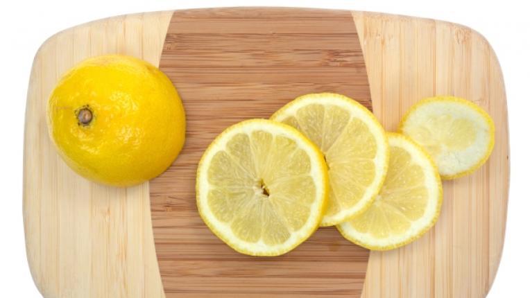 лимон дъска рязане