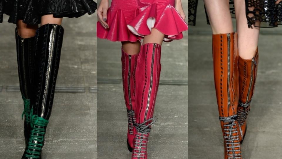 На мода този сезон – ботуши над коляното