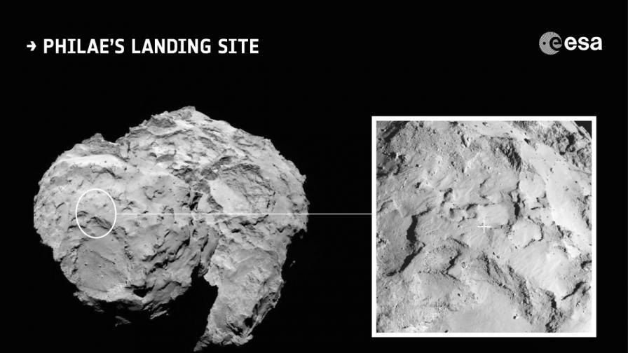 Историческо кацане върху комета днес