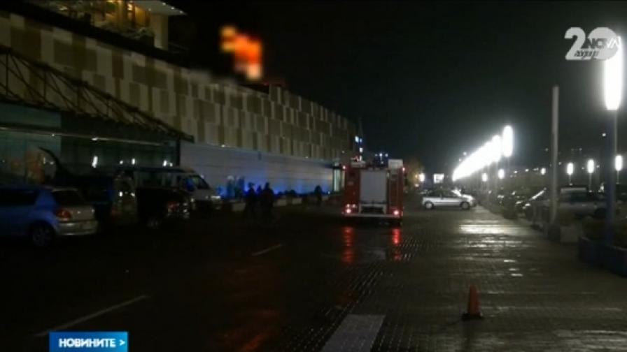 Пожар в мол в Бургас