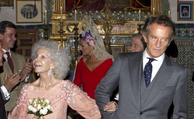 Хрецогинята и съпругът ѝ в деня на сватбата им през 2011 г.