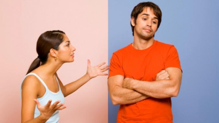 мъж жена двойка връзка спор