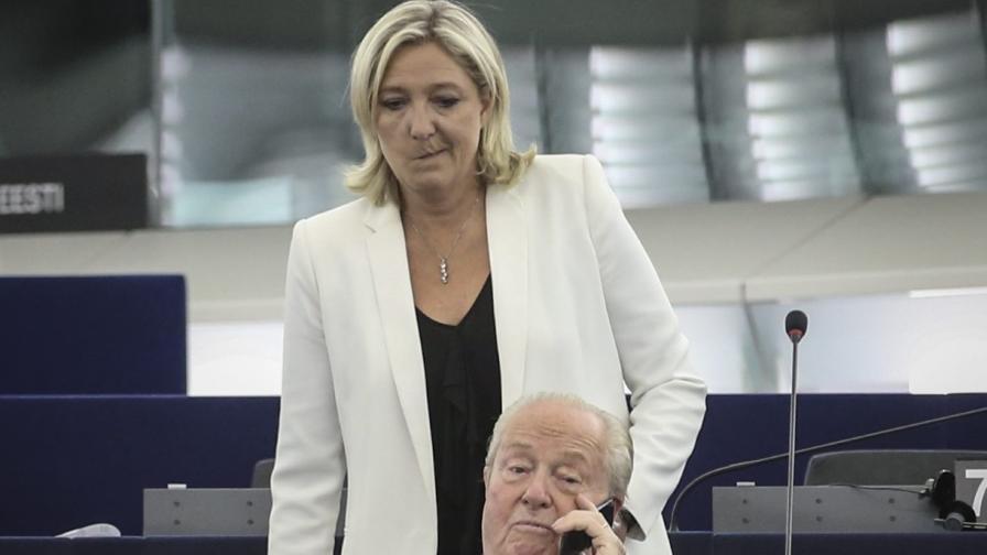Марин льо Пен и Жан-Мари льо Пен в ЕП