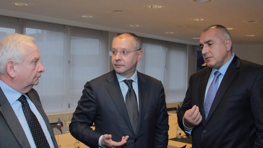 "Борисов и Станишев обсъдили Шенген и ""Южен поток"" в Брюксел"
