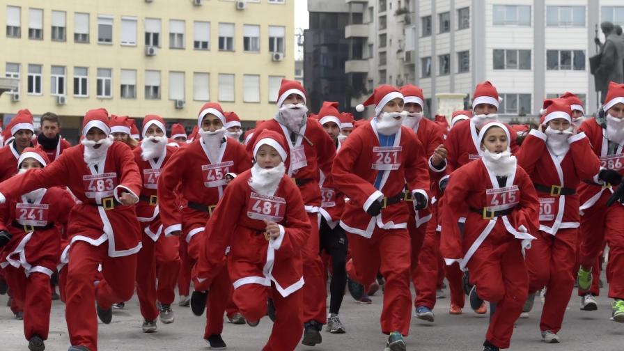 Стотици дядомразовци се надбягваха по улиците на Скопие