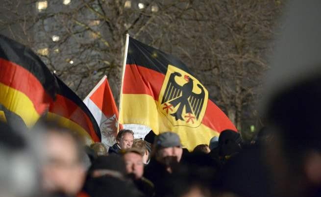 Шествие на ПЕГИДА в Дрезден