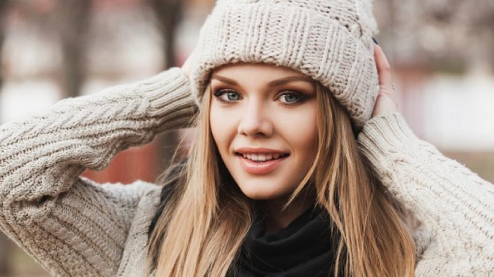 Спасете прическата от зимната шапка