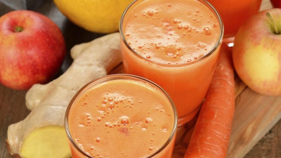 Чаша здраве всеки ден – сок от ябълка, морков и джинджифил