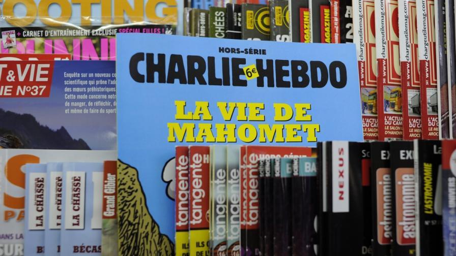 """Първият брой на """"Шарли ебдо"""" след атаката – с Мохамед на първа страница"""