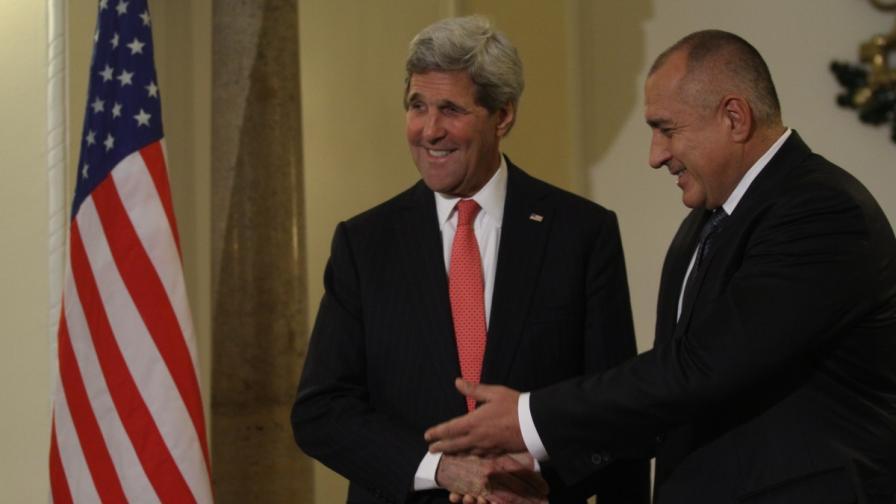 Джон Кери и Бойко Борисов в Министерския съвет