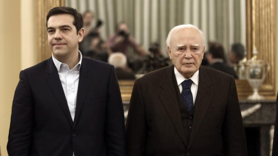 Алексис Ципрас положи клетва като премиер