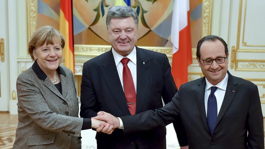 Мирният план на Меркел и Оланд предвижда децентрализация на Донбас