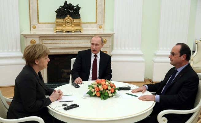 За какво се разбраха Меркел, Путин и Оланд в Кремъл