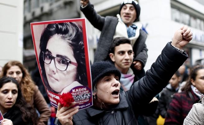 Протест в Истанбул срещу убийството на Йозгеджан Аслан