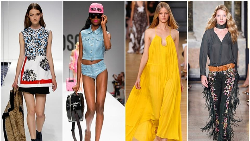 Пролет/Лято 2015: Жълто, карета и деним