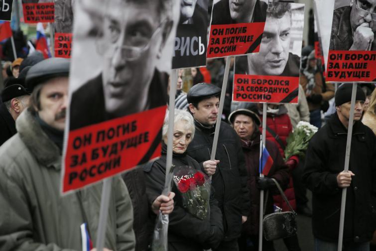 Борис Немцов Москва шествие