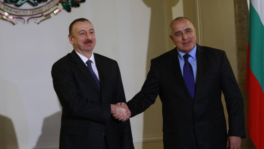 Премиерът Бойко Борисов и президентът на Азербайджан Илхам Алиев