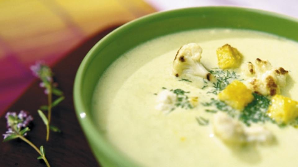 Печен карфиол на супа