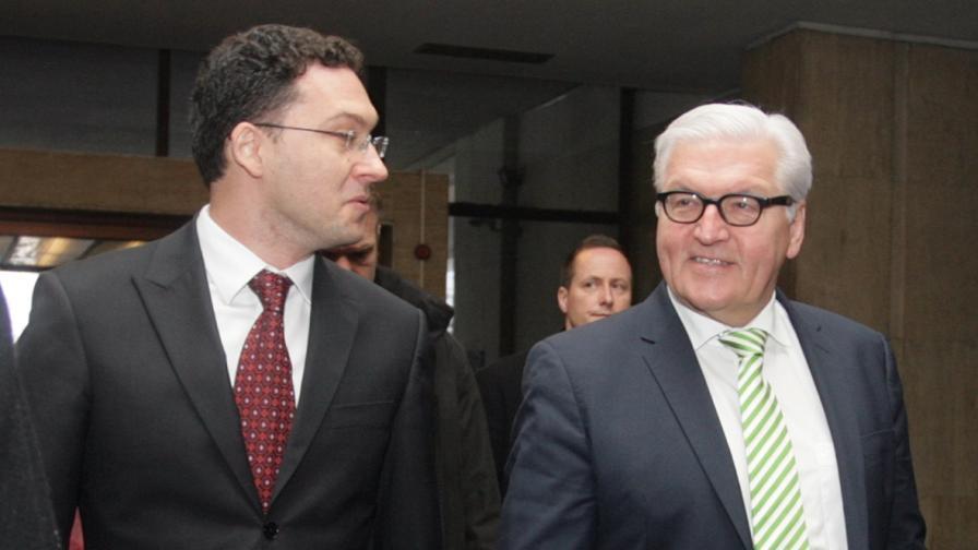 Щайнмайер: Германия ще съдейства на България за реформите
