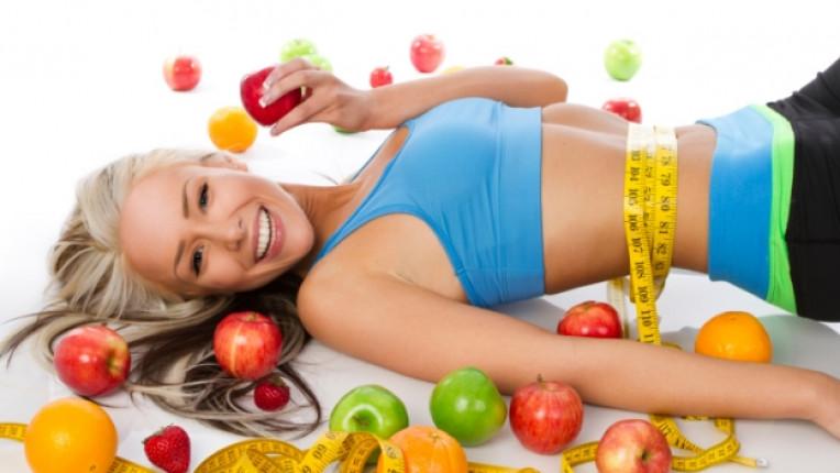 жена здравословно диета отслабване