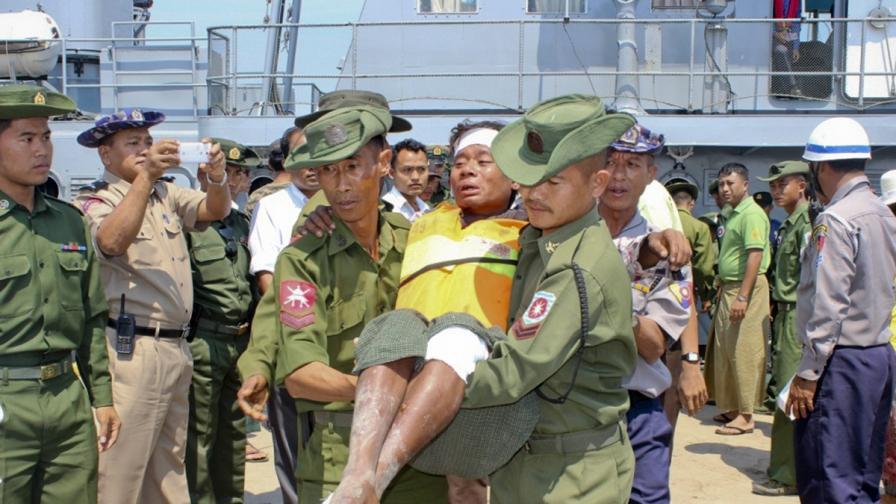 Ферибот потъна край Мианмар, 33 души загинаха