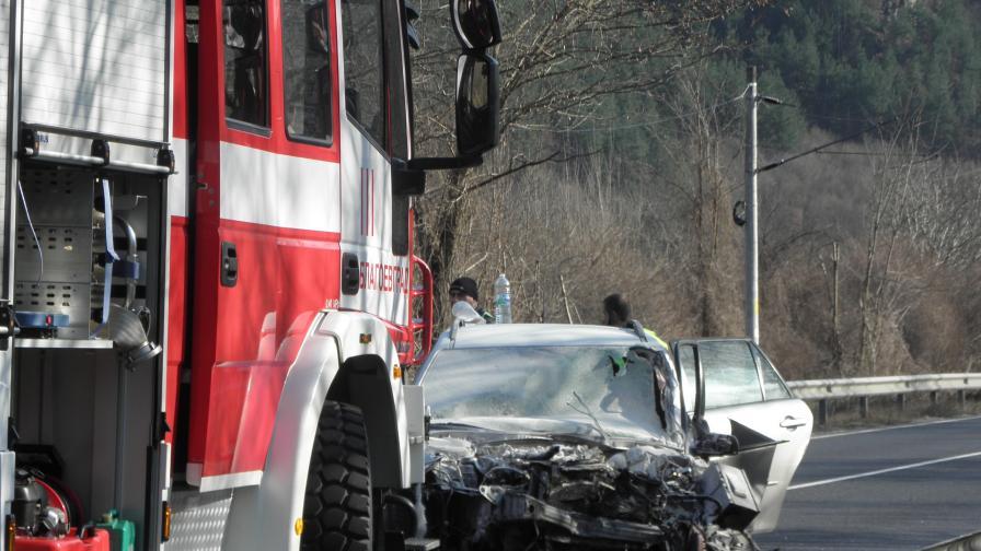 Кадър, заснет след катастрофата
