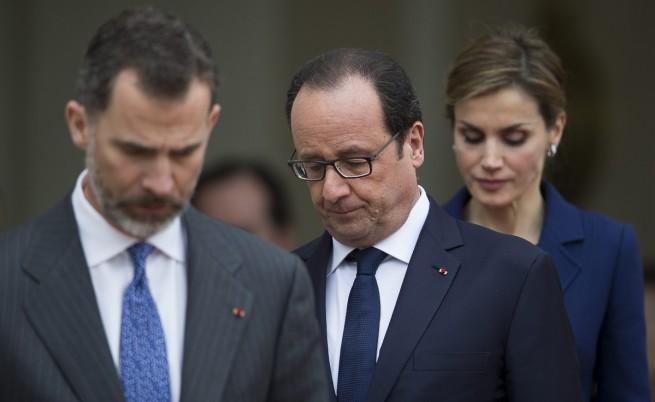 Крал Филип, Франсоа Оланд и кралица Летисия