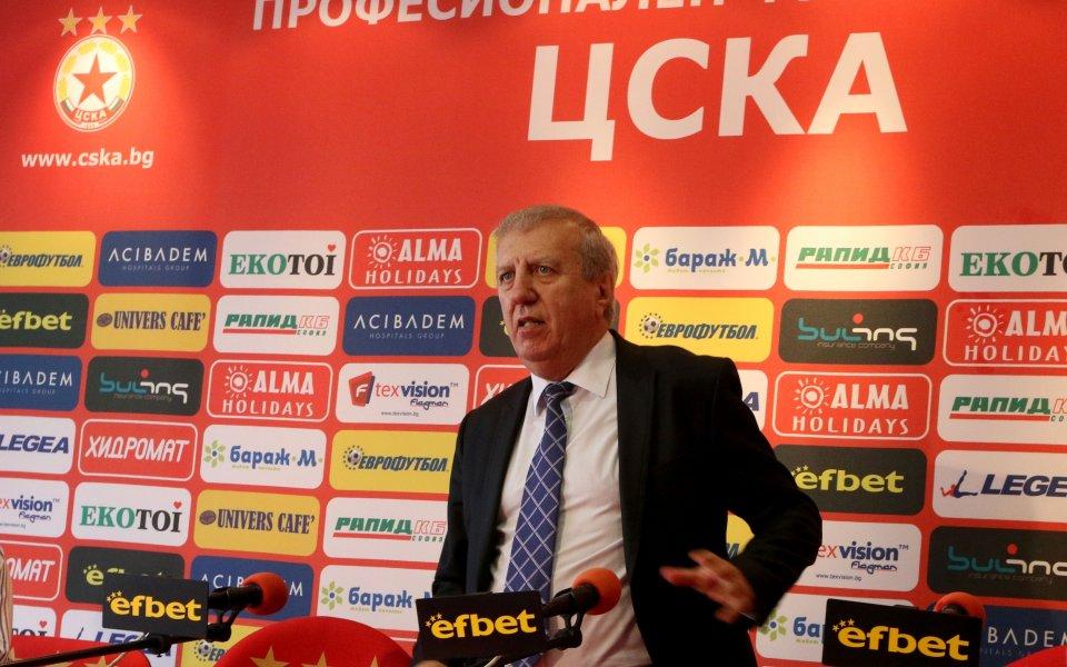 Томов обясни за дълговете на ЦСКА