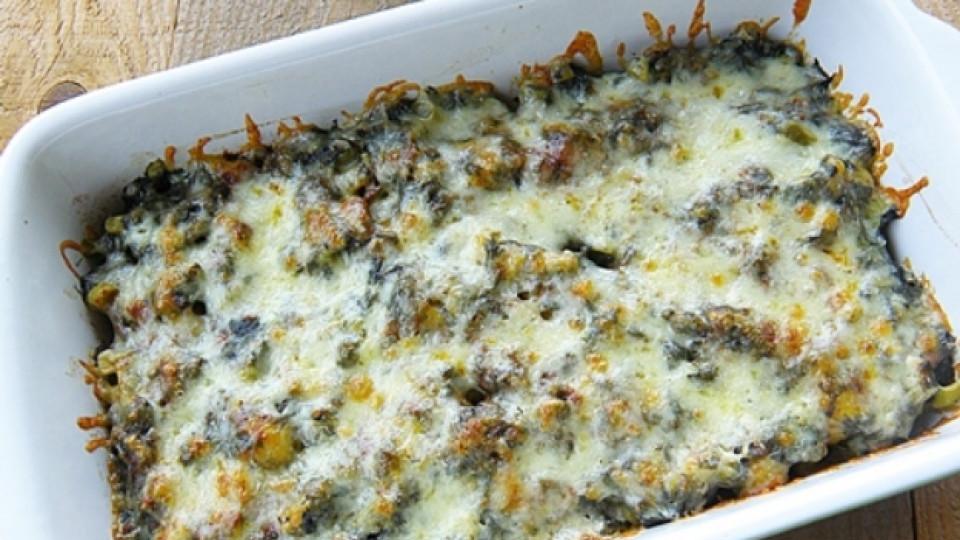 Пресни картофи на фурна с пресен лапад