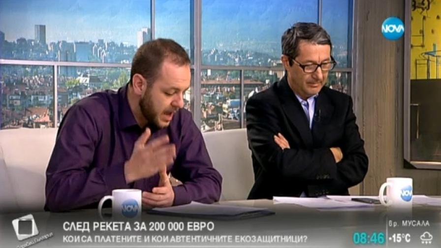 Борислав Сандов и Владимир Каролев в студиото на Нова ТВ