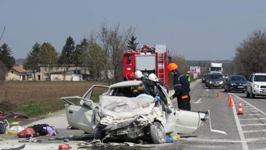 Зверска катастрофа на пътя Русе-Бяла