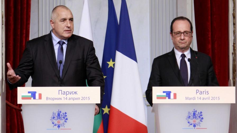 Премиерът Бойко Борисов и френският президент Франсоа Оланд