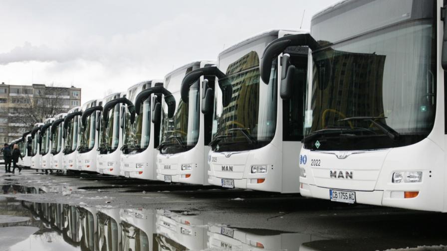 Новите автобуси по линии 305, 94 и 413 идват през май