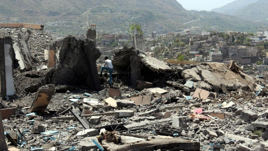 Разрушения в Йемен