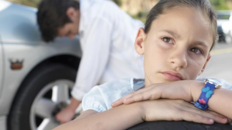 семейство дете кола гума смяна баща татко