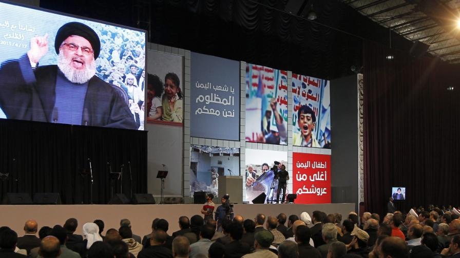 """Водачът на """"Хизбула"""" призова за """"свещен съюз"""" срещу """"Ислямска държава"""""""