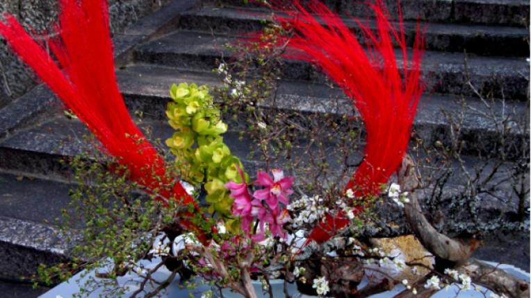 Икебана цветя