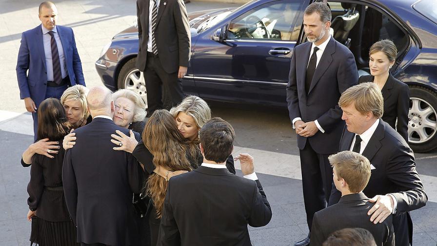 Холандското кралско семейство поднася съболезнованията си на родителите и съпругата на княз Кардам