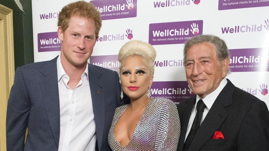 Лейди Гага, Тони Бенет и принц Хари