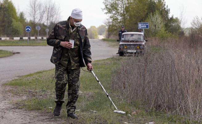 Пожар е горял край Чернобил, няма опасност от радиация