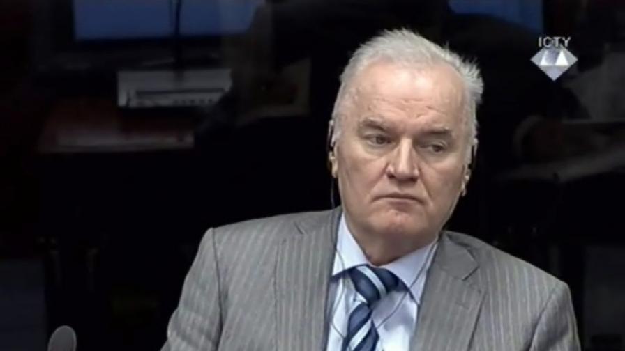 Ратко Младич по време на заседание на съда през януари 2014 г.