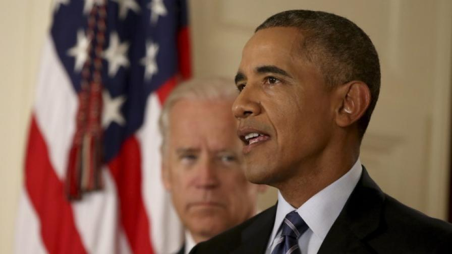 Барак Обама произнася речта си в Белия дом след постигането на споразумение по иранската ядрена програма